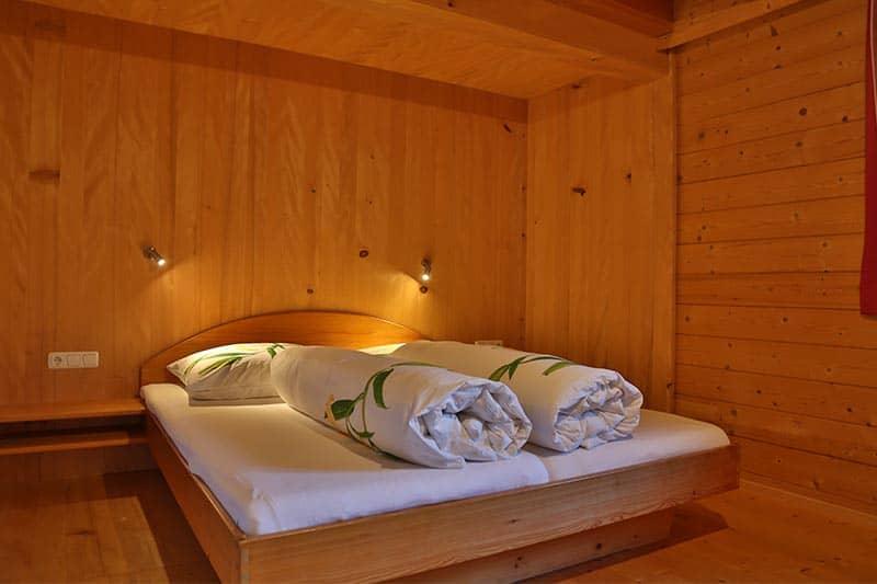 Ferienwohnung Gräsalpe Schlafzimmer