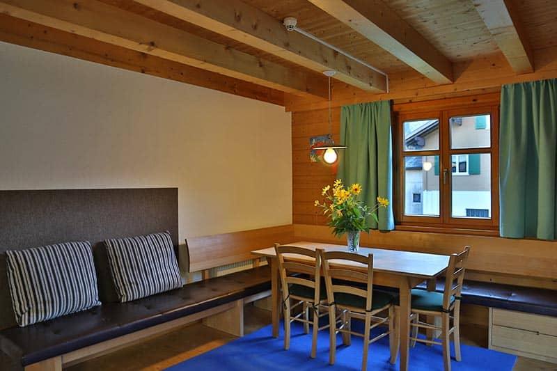Ferienwohnung Gräsalpe Wohnzimmer