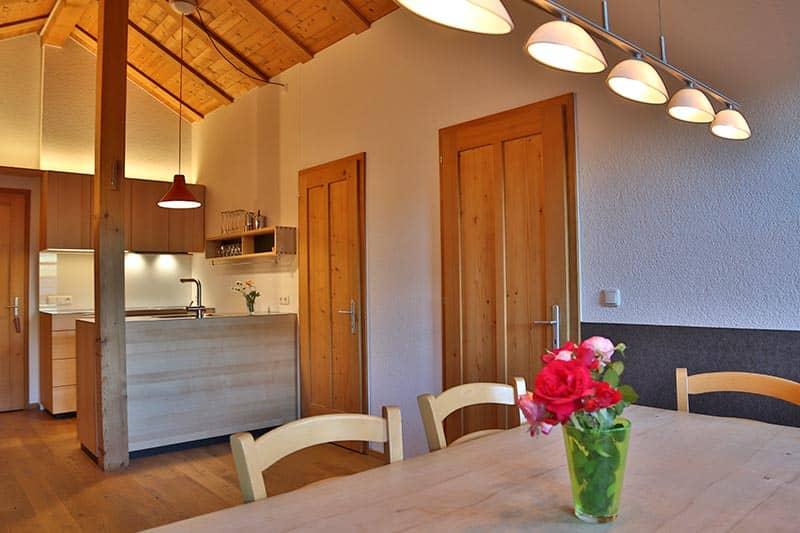 Ferienwohnung Kanisfluh Küche und Esszimmer