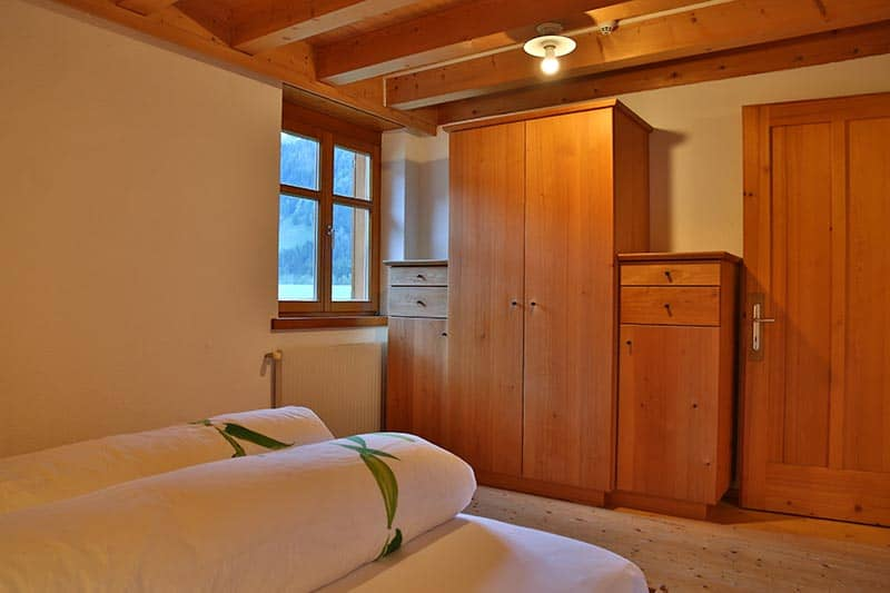 Ferienwohnung Obstgarten Schlafzimmer