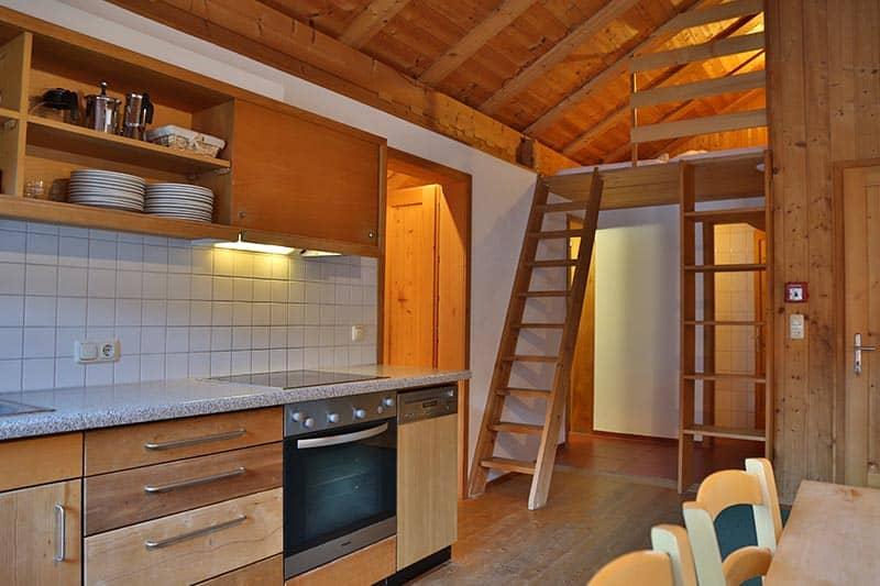 Ferienwohnung Tannberg Küche